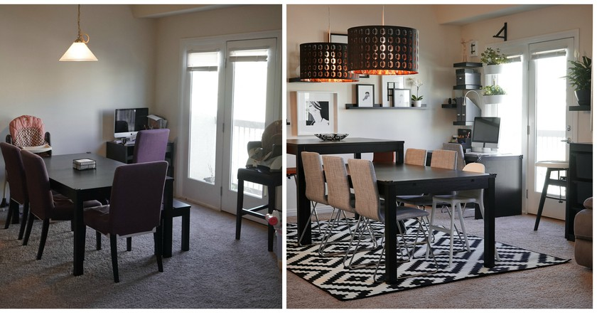 Before & After: Dining Room Makeover | © IKEA USA