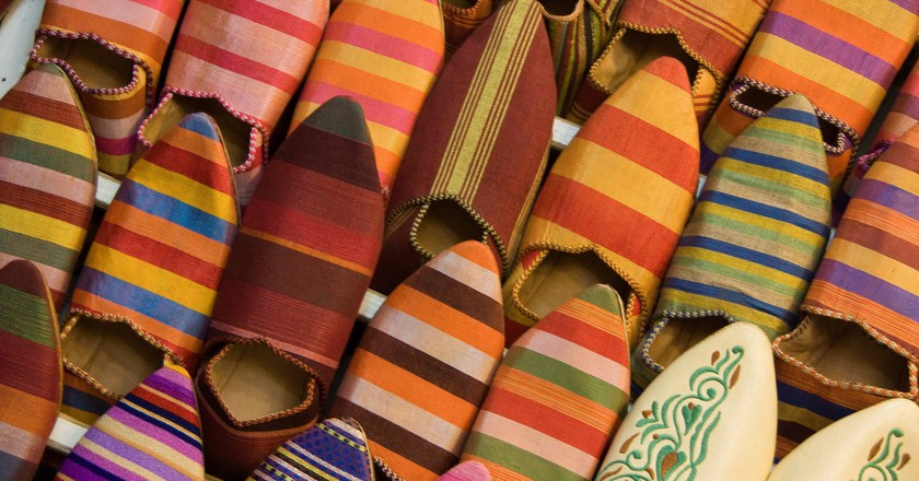 """<a href = """"https://www.flickr.com/photos/thedadys/10875615753/""""> Traditional Moroccan babouches 