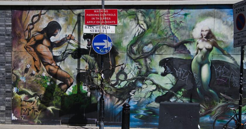 Shoreditch street art   © Scott Dexter/Flickr