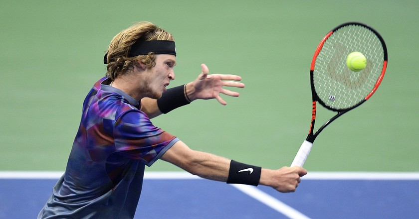 Andrey Rublev during the 2017 U.S. Open quarterfinals | © USTA/Pete Staples