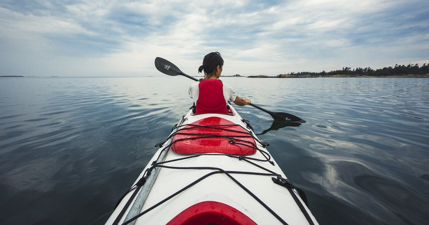 Kayaking in Georgian Bay | © OTMPC