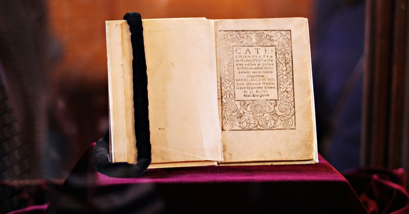 One of the two surviving copies of Mažvyda's Catechism | © Pinkizz / WikiCommons