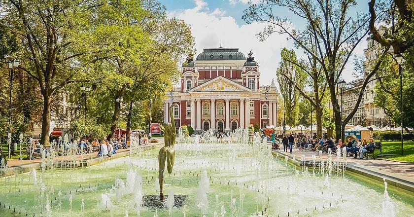 National Theater Ivan Vazov in Sofia, Bulgaria | © Sami C/WikiCommons