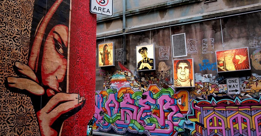 Shepard Fairey Hosier Melbourne  | © TigTab / WikiCommons