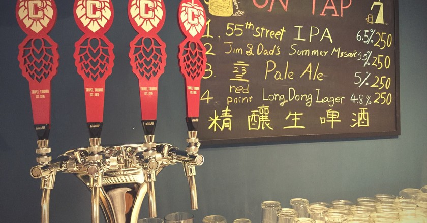 Beers on tap at Crafted | Courtesy of Crafted Beer & Co.