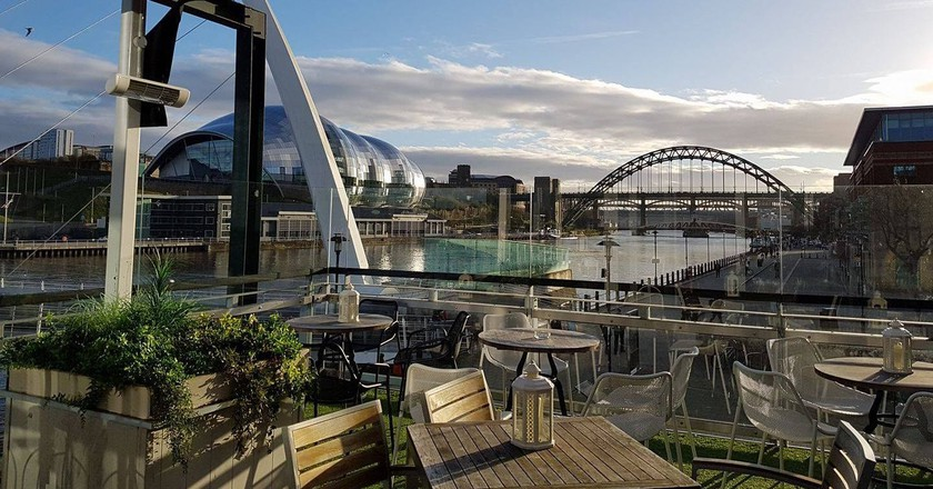 Outdoor terrace at Pitcher & Piano, Quayside | © Pitcher & Piano/Facebook