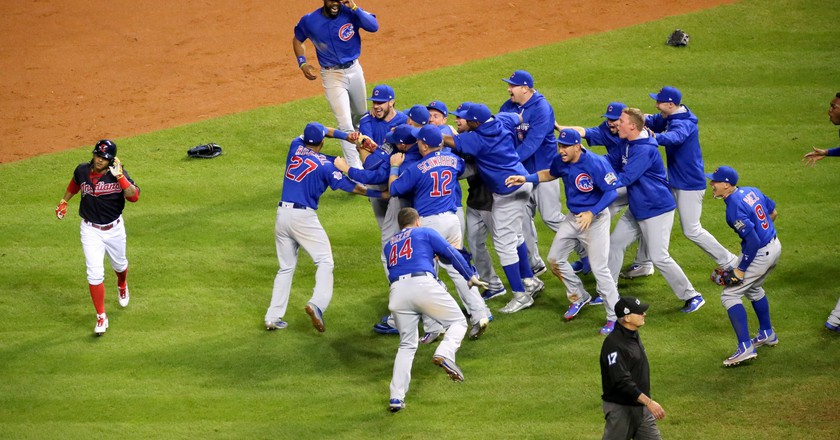 The Cubs celebrate after winning the 2016 World Series   © Arturo Pardavila III/Flickr