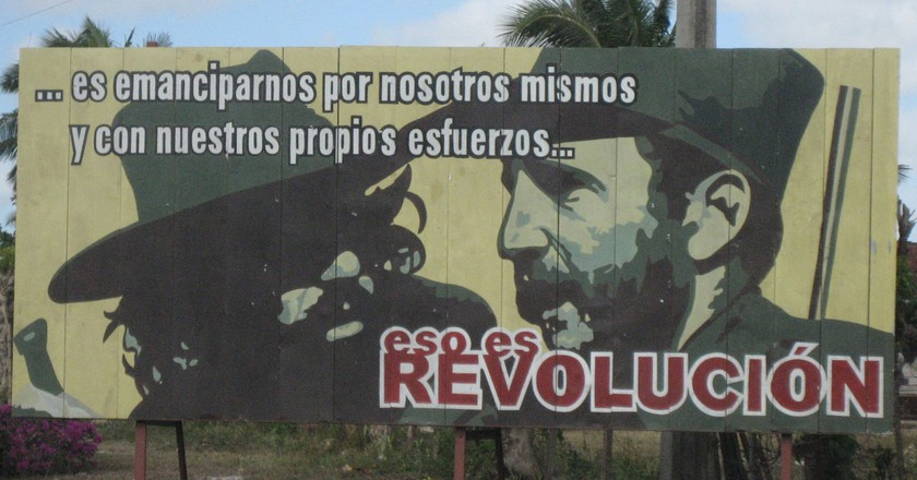A revolutionary billboard in Cuba