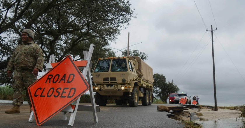 Hurricane Nate | © The National Guard / Flickr