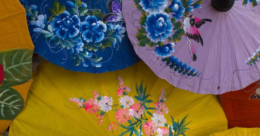Hand painted paper parasols | © Brian Jeffery Beggerly/Flickr