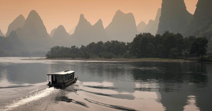 Limestone Karsts on Li River   © 一元 马