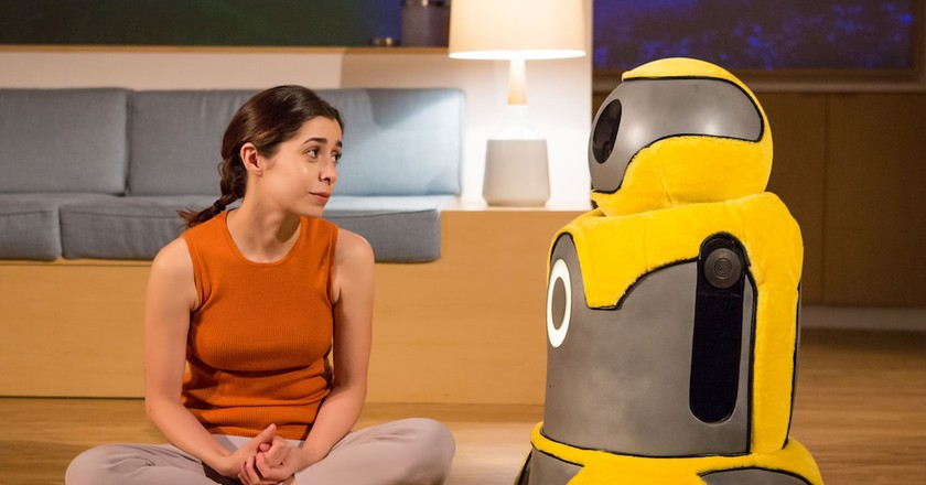 Anna and Arthur the bot in <em>After the Blast</em> | © Jeremy Daniel