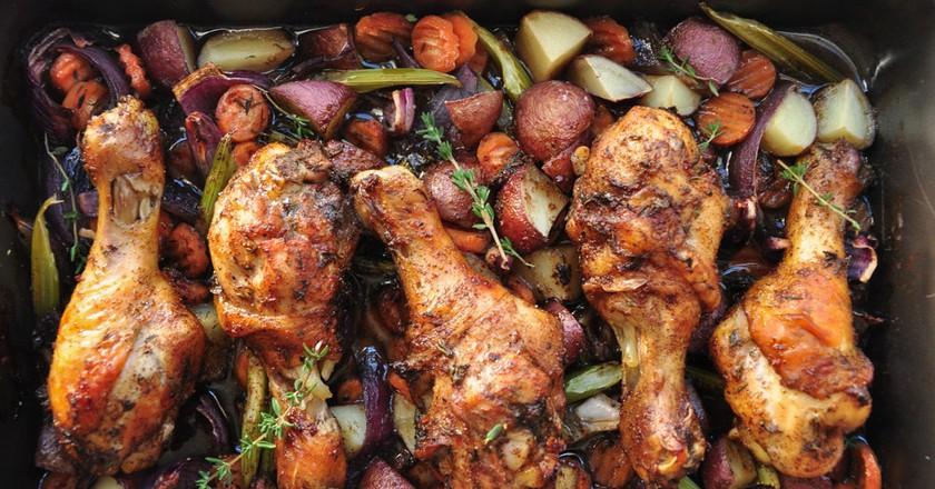 Caribbean Jerk Chicken & Vegetables | © Sharon Chen / Flickr