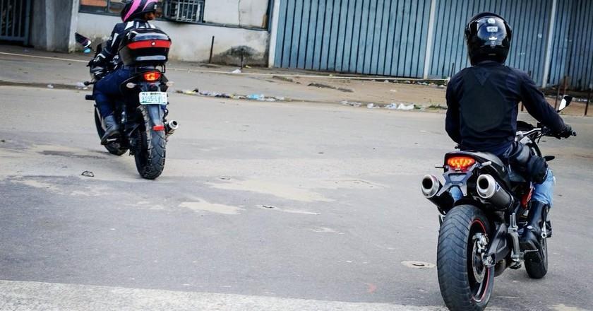 Bikers in Abeokuta   © Tafa Osisiye