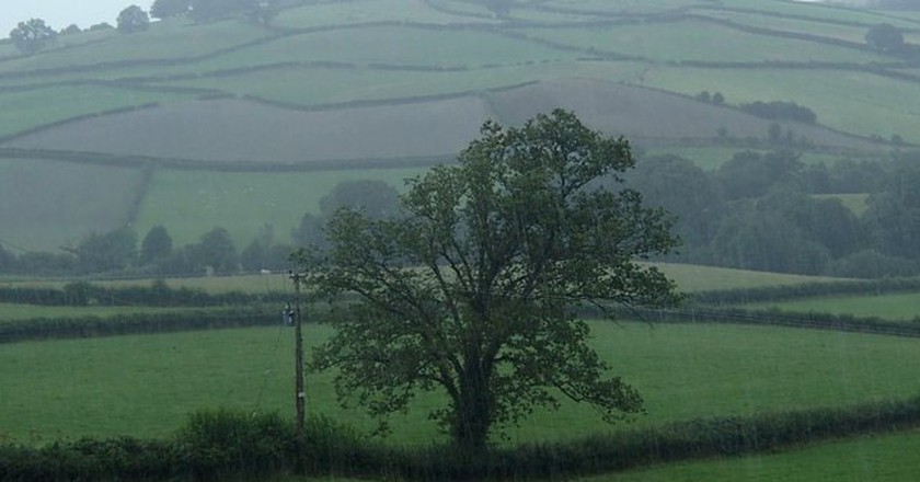 Wet weather in Wales © Andrew Hill/Geograph