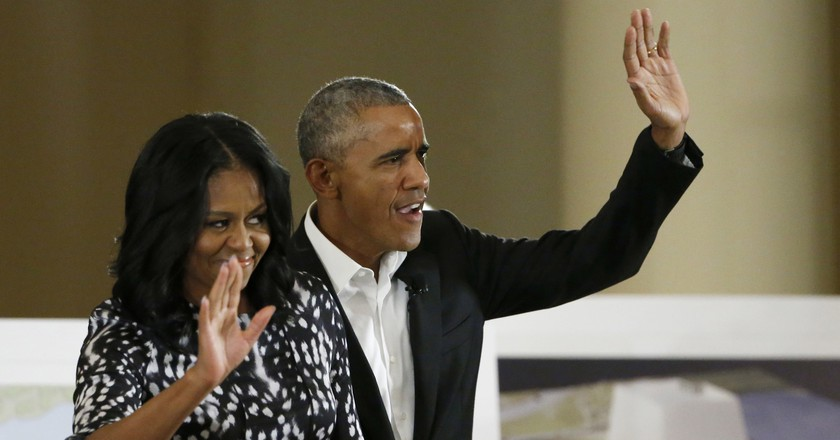 Former President and First Lady, Barack & Michelle Obama, arriving at the the South Shore Cultural Center in Chicago | © AP/REX/Shutterstock