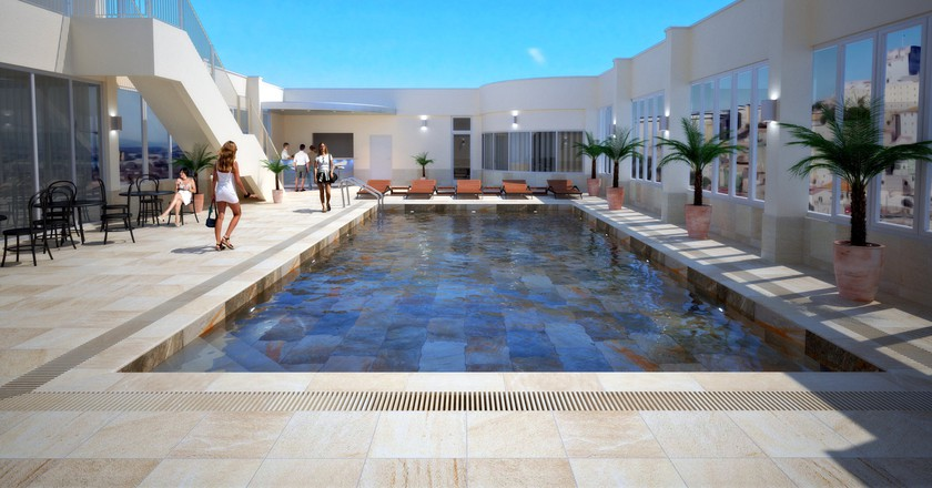 8th-floor pool terrace at the O'Callaghan Eliott; courtesy O'Callaghan Eliott Hotel