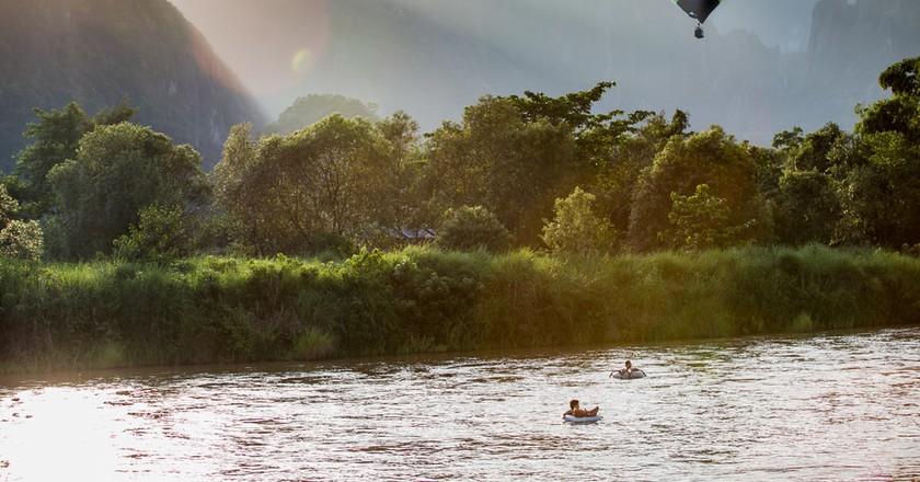 Beautiful landscape of Vang Vieng, Laos.