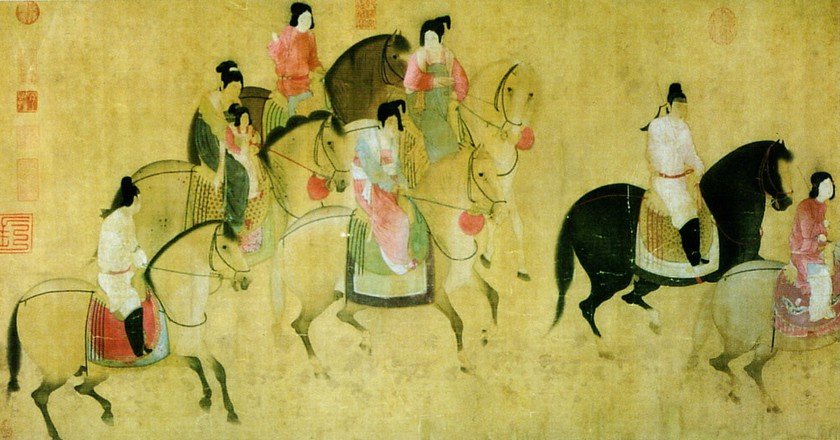 Spring Outing of the Tang Court | © Zhang Xuan / WikiCommons