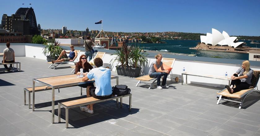 Sydney Harbour YHA rooftop terrace | Courtesy of YHA Australia
