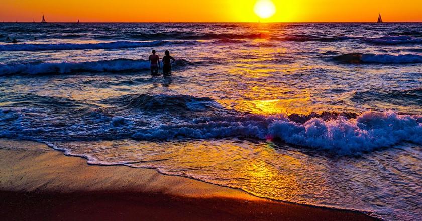Sunset on Tel Aviv beach | © Ted Eytan / Flickr