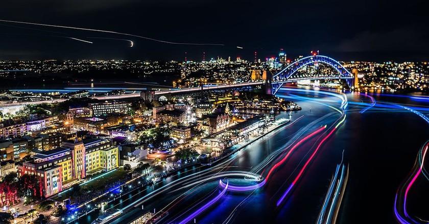 Vivid Sydney | © Allison Lee/Wikimedia Commons and Destination NSW