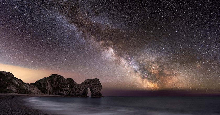 Will Milner, Durdle Door and the Milky Way, Dorset, 2017   Courtesy of Landscape Photographer of the Year 2017