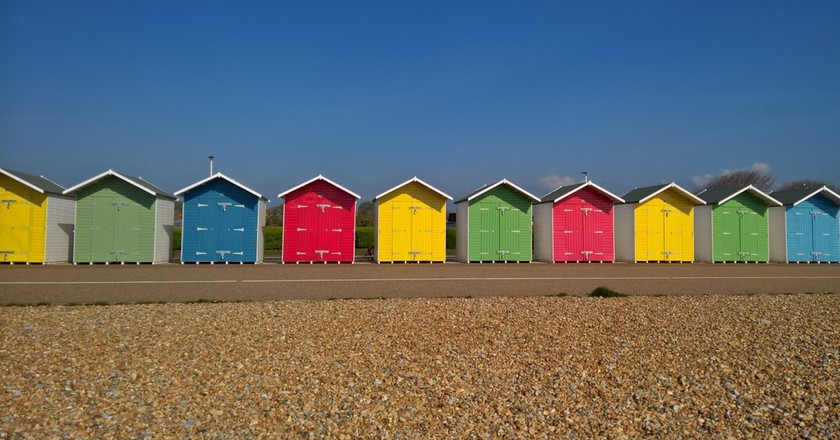 Eastbourne beach huts   © Shutterstock
