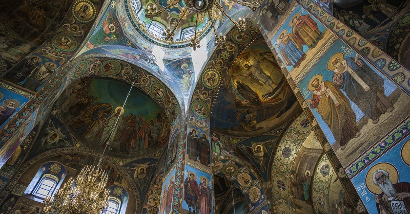 Inside the Church of the Saviour on Spilled Blood