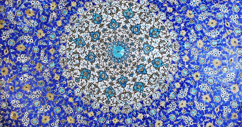 A beautiful mosaic in Isfahan, Iran; a growing hotspot for honeymoons