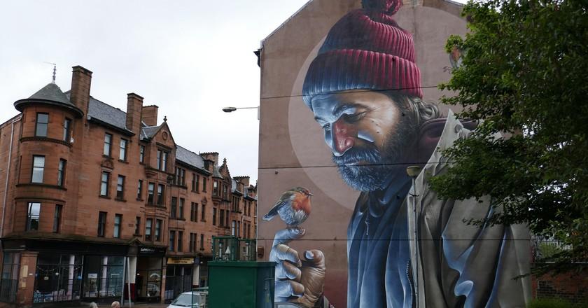 St Mungo, Street Art, Glasgow  © Markheybo/Flickr
