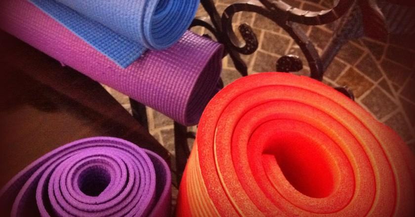 Yoga mats   © Tony and Debbie / Flickr