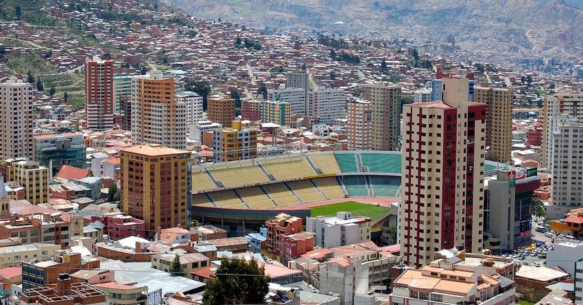 Estadio Hernando Siles, the football stadium in the world's highest capital, La Paz   © Manuel Menal/Flickr