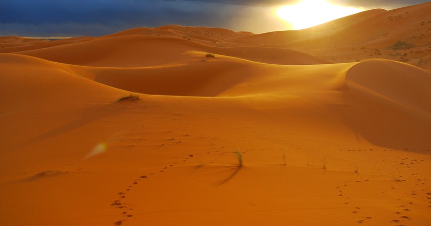 Sublime sunset over the Sahara Desert, Morocco | © Swen George / Flickr