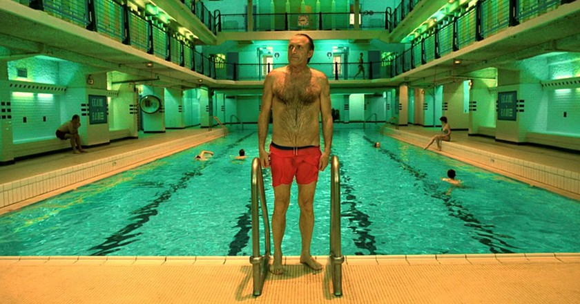 """The swimming pool scene from """"Amélie""""  Courtesy of UGC Fox Distribution"""