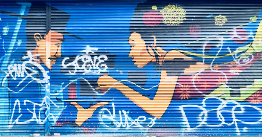 Colourful graffiti in Brixton   © Angie Quinn