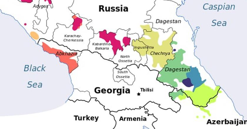 Caucasian Languages   © kwami / WikiCommons