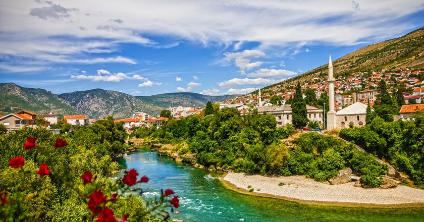 Mostar mosque in old town, Bosnia and Herzegovina   © Vlada Photo/Shutterstock