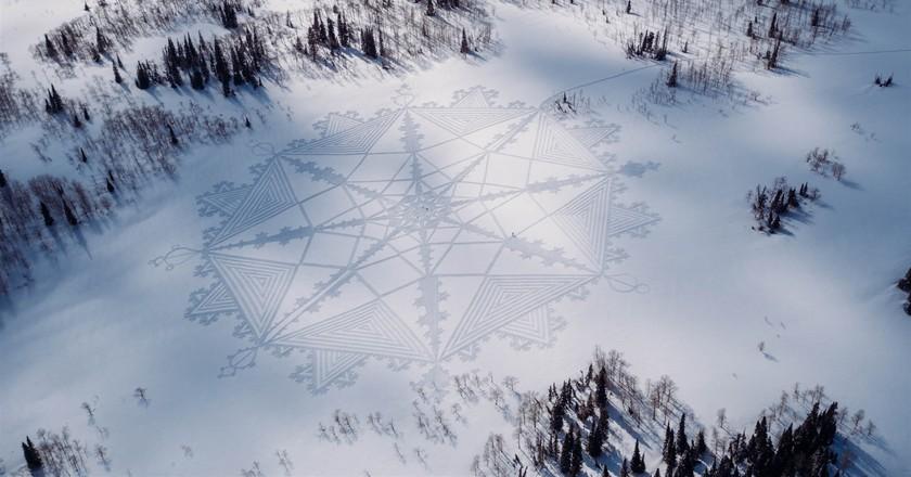 Snow Art | © and Courtesy of Simon Beck