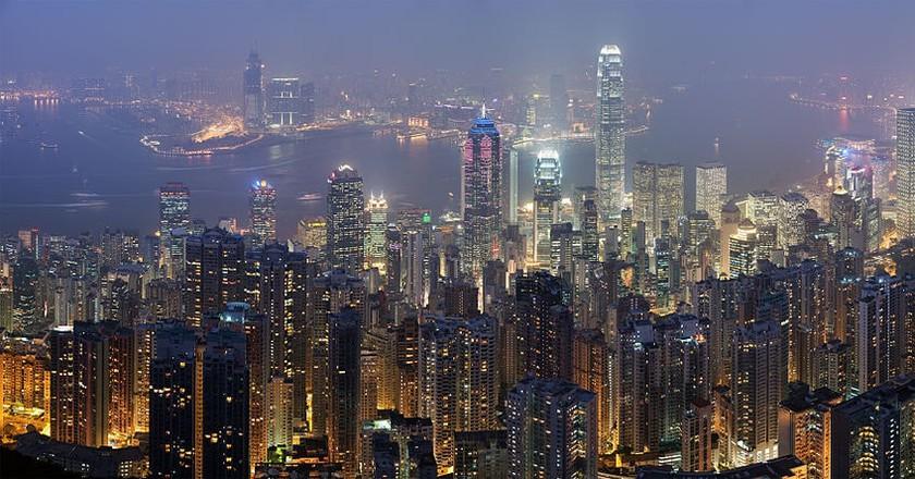Hong Kong skyline   © Diliff / Wiki Commons