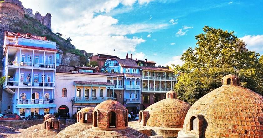 Bathhouse roofs - Abanotubani, Tbilisi   © Rohan Cahill-Fleury