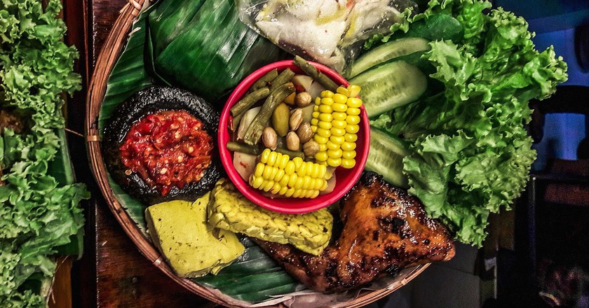 A complete Indonesian meal