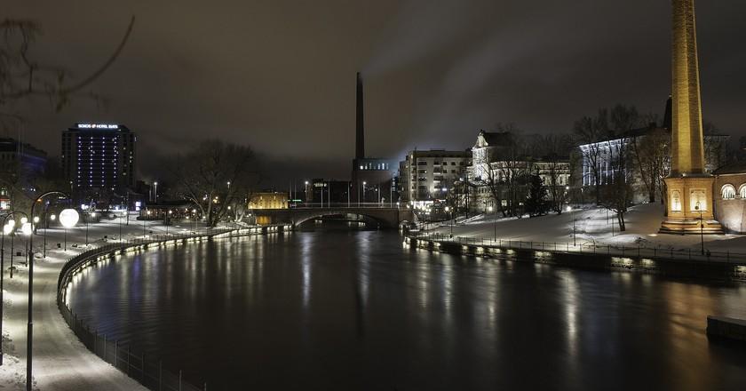 Tampere at night   © Apilisko / Pixabay