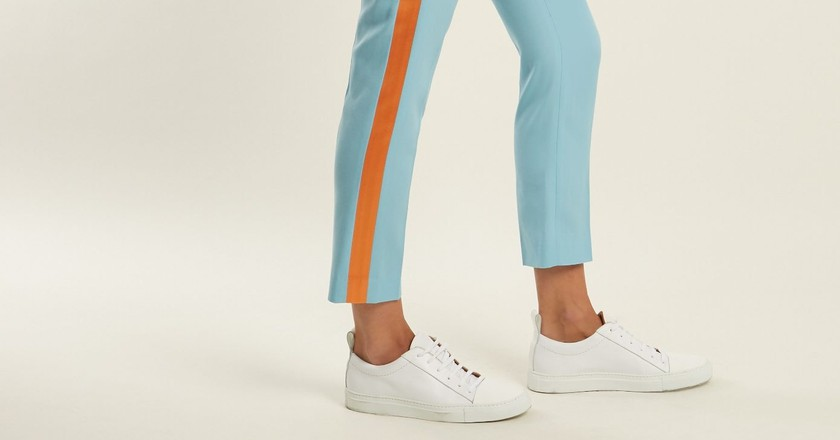 Racil, Aries side-stripe skinny wool cropped trousers   © Matches Fashion