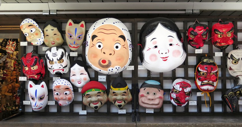 traditional japanese masks and what they re used for