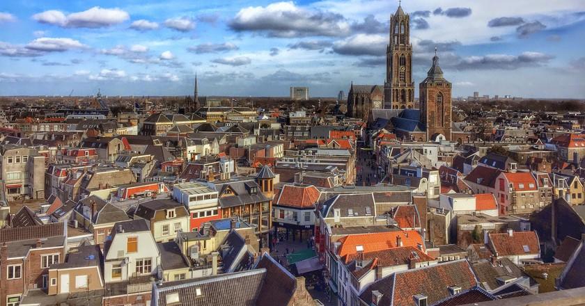 Blue skies over Utrecht