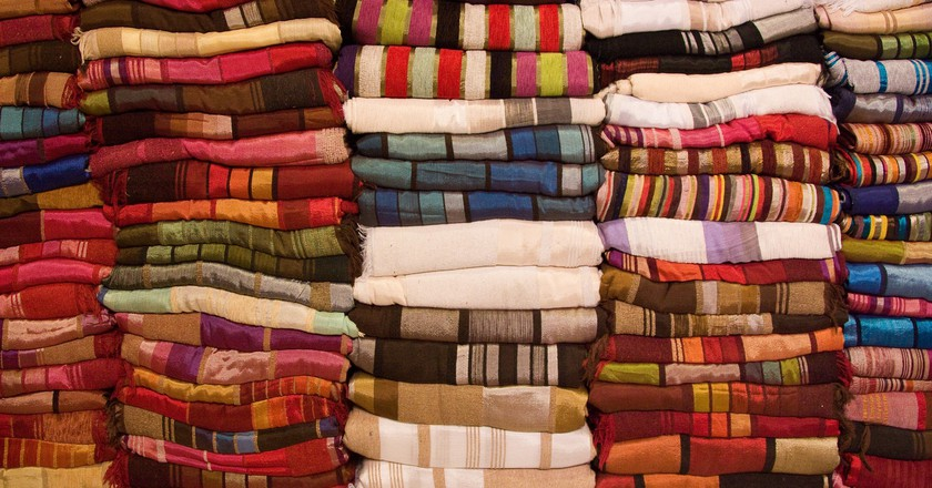 Beautiful fabrics in Morocco | © Martin and Kathy Dady / Flickr