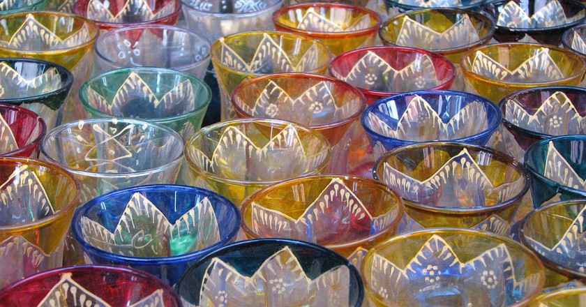 Colourful and delicate Moroccan coffee glasses   © Omer Simkha / Flickr