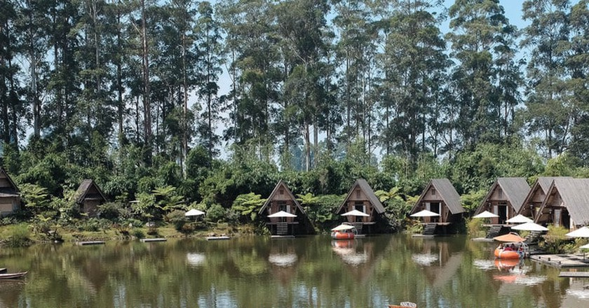The natural view at Dusun Bambu, Bandung