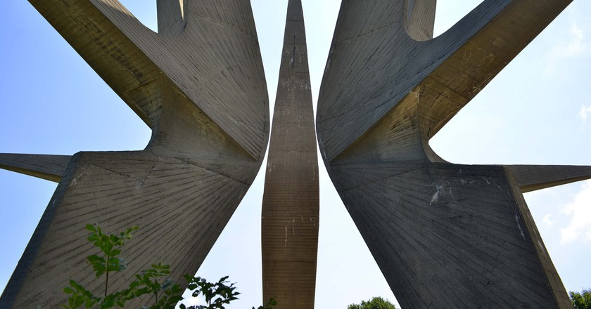 The monolithic monument at Kosmaj, near Belgrade